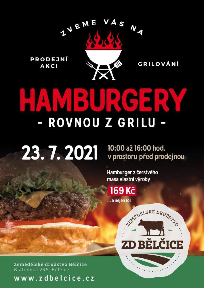 Pozvánka na grilování hamburgerů